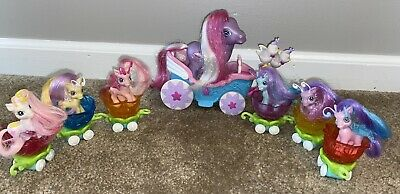 MY LITTLE PONY CRYSTAL PRINCESS BREEZIE PARADE Fairies &PRETTY PARASOL CARRIAGE • 23.32£