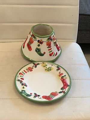 🎄🎅🏻never Used Christmas Yankee Candle Shade And Plate Tray Yankee Bundle • 10£