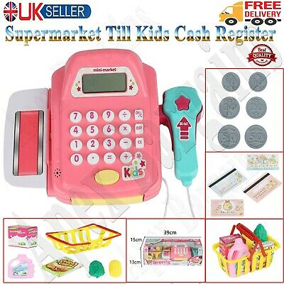 £10.45 • Buy Kids Supermarket Shop Role Play Cash Register Toy Play Food And Toy Trolley Gift