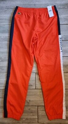 £49 • Buy Mens Lacoste Sport Orange Red Tracksuit Bottoms Pants Size Small 3 Bnwt RRP £95