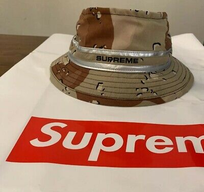 $ CDN101.95 • Buy SUPREME CONTRAST STITCH CRUSHER, Chocolate Chip Camo S/M SS19 WEEK 18 AUTHENTIC