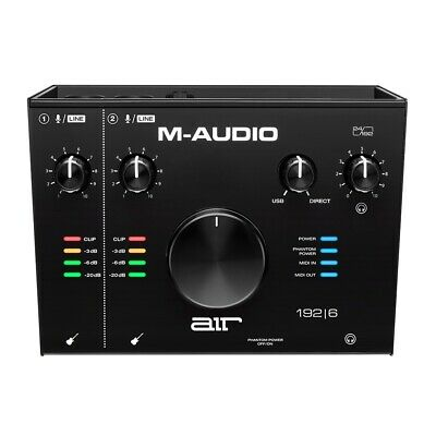 $134.99 • Buy M-Audio AIR 192 6 192 6 2-In/2-Out 24/192 USB Audio/MIDI Recording Interface