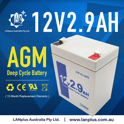 AU24.99 • Buy 12V 2.9Ah Backup Main Power Cyclic SLA Rechargeable Battery 4 UPS ALARM TOY CAR