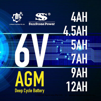 AU39 • Buy Brand New 6V 4.0AH 4.5AH 5AH 7AH 9AH 12AH AGM  Sealed Lead Acid Battery