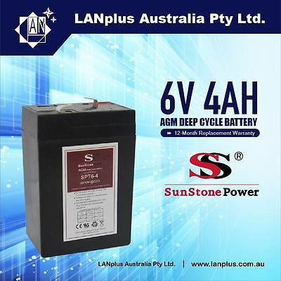 AU8.90 • Buy Brand New 6V 4.0AH SLA Rechargeable Battery 6volt Sealed Lead 4ah Toy Electric