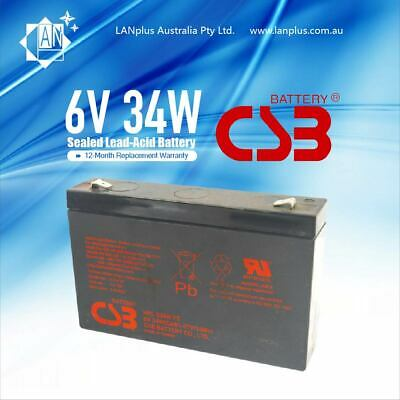 AU34.99 • Buy Brand New CSB HRL F2 634W  SLA Sealed Lead-Acid Rechargeable UPS Battery 6V 9ah