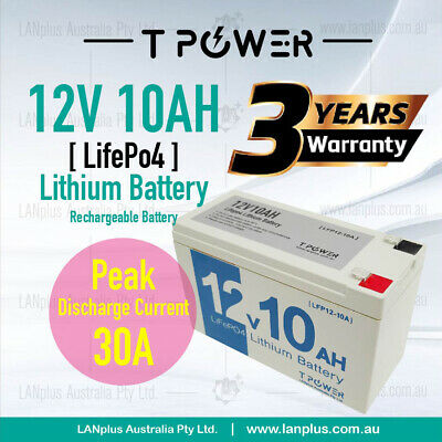 AU108 • Buy 12V 10Ah LiFePO4 Lithium Rechargeable Battery Same Size As 12v 7ah 12v 9ah 12v 8
