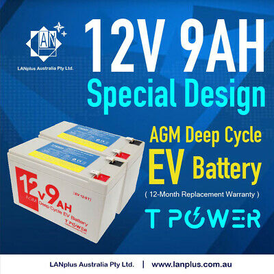 AU69.90 • Buy 2x NEW 12V 9AH SLA AGM Battery 60CCA  For Razor E200 E200S E300 E300S Scooter