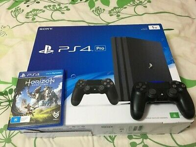 AU290 • Buy Sony Playstation PS4 Pro 1TB With An Extra Controller And Horizon Zero Dawn