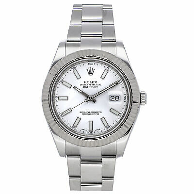 $ CDN11342.96 • Buy Rolex Datejust II Auto 41mm Steel Mens Oyster Bracelet Watch 116334