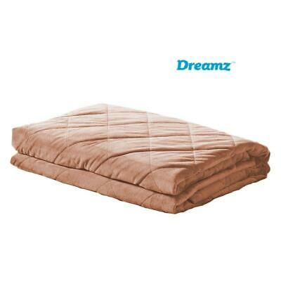 AU58.65 • Buy DreamZ Weighted Blanket Anxiety 7KG Gravity Relax Kids Adults Dusty Pink
