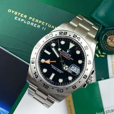 $ CDN18789.42 • Buy Rolex Explorer II 216570 42mm Black White Dial Immaculate Service - PX Available