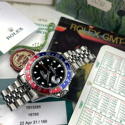 $ CDN25646.60 • Buy Rolex GMT Master 16700 Pepsi Full Set Serviced Jubilee - PX Available
