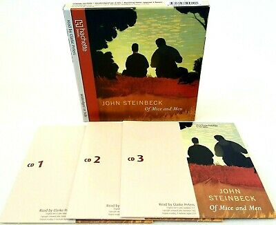 Of Mice And Men By John Steinbeck - Unabridged - Audio CD - 3 Discs - Very Good • 5.49£