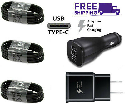 $ CDN18.26 • Buy For OEM Samsung Galaxy S8 S9 S10 Plus Note8 9 Fast Car Wall/Charger/Type-C Cable