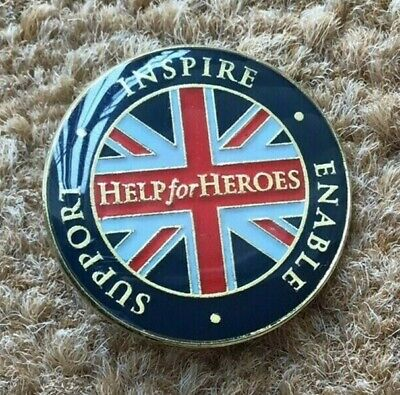 £2.50 • Buy Help For Heroes Pin Badge - Support, Inspire, Enable - Brand New In Plastic Bag