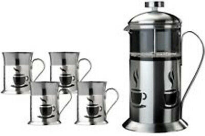 BergHoff Stainless Steel And Glass French Press 5 Pc Set • 32.87£