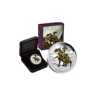 AU41 • Buy 2013 PM $1 1oz Coloured Dragons Of Legend - 3 Headed Silver Proof Coin D5-832