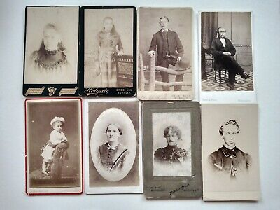 8 Small Victorian Cabinet Card Photos, Plus 2 Large, Various Photographer's Dr • 4.99£