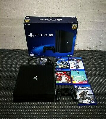 AU222.50 • Buy Playstation Ps4 Pro 1TB Boxed With Games CUH-7102B