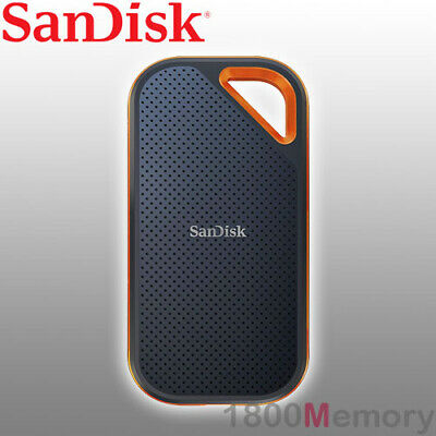 AU479 • Buy GENUINE SanDisk Extreme Pro V2 Portable SSD External USB 3.2 2000MB/s A C Cable