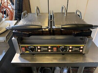 Commercial Contact Panini Grill Double Press Gridde Buffalo L554 • 150£