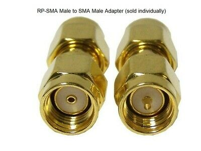 £2.95 • Buy PureTek® RP-SMA Male (female Pin) To SMA Male (male Pin) Straight RF Adapter