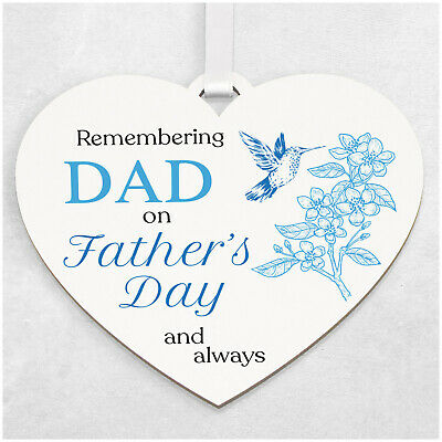 £6.99 • Buy PERSONALISED Fathers Day Memorial Remembrance White Hearts Dad Grandad ANY NAME