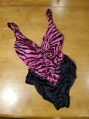 AU51.54 • Buy VINTAGE 1980s ROSE MARIE REID SWIMSUIT SIZE 14 MADE IN USA