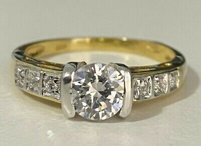 AU245 • Buy 9ct Solid Gold & White Stone Solitaire Ring 3.70g Size U -  10 1/4
