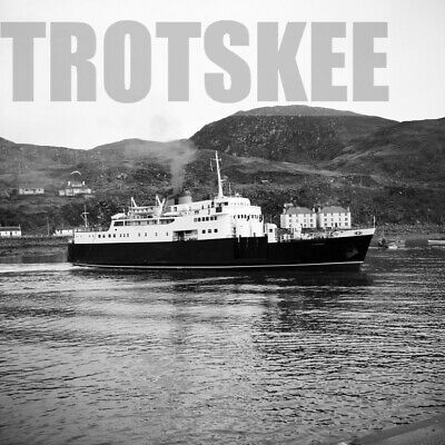 Larger Negative Caledonian MacBrayne Steamer Ferry Clansman Mallaig 1966 • 3.99£