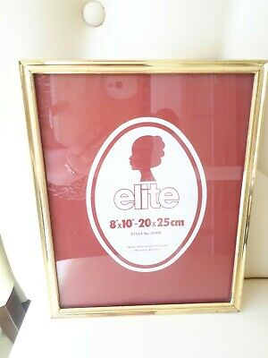 AU4.85 • Buy Gold Metal Photo Frame 8x10 , Very Good Condition