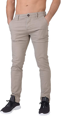 £25.44 • Buy Crosshatch Chinor Men's Smart Casual Slim Fit Stretch Cotton Chino Jeans Timber