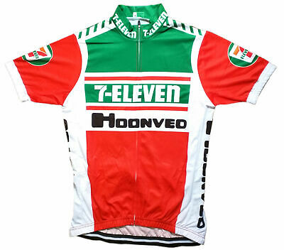 AU35.56 • Buy 7 Eleven Retro Vintage Cycling Team Bike Cycle Short Sleeve Jersey -  M
