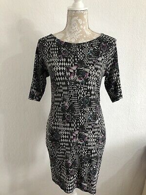 Damned Delux Bodycon Dress Size 14 With Roses Summer Work Smart Business Party • 3£