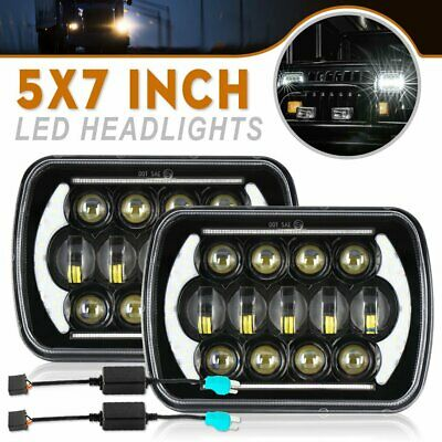 AU109.99 • Buy Pair 5x7inch Headlight Replacement Hilux Headlights Hi/lo/drl H4 W/ H4 Adapters