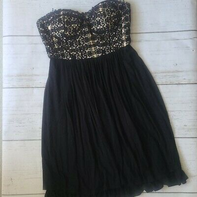AU45.08 • Buy Urban Outfitters Formal Black Strapless Dress 4 Women's Lace Sweetheart