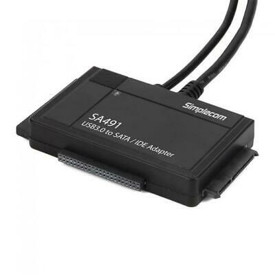 AU69.95 • Buy Simplecom SA491 3-IN-1 USB SATA/IDE Adapter With Power Supply