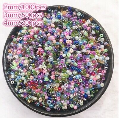 $ CDN1.55 • Buy 1000pcs/2/3/4mm Czech Glass Seed Beads Jewelry Spacer Loose Round Making Lot NEW