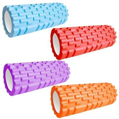 AU44.68 • Buy 33cm Sport Fitness Foam Roller Yoga Block  Gym Pilates Yoga Exercise Back Muscle