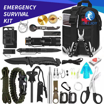 AU57 • Buy 32Pcs Emergency Survival Equipment Kit Outdoor Sports Tactical Camping Tool Set