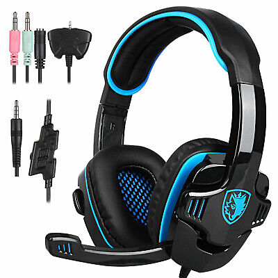 AU24.14 • Buy 2021 SADES Gaming Headset Surround Headphone For PS4/PC/Laptop/Xbox One With Mic