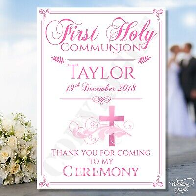 £3.65 • Buy First Holy Communion Sign Gift Boy Girl Ceremony Card Christening Baptism Twins