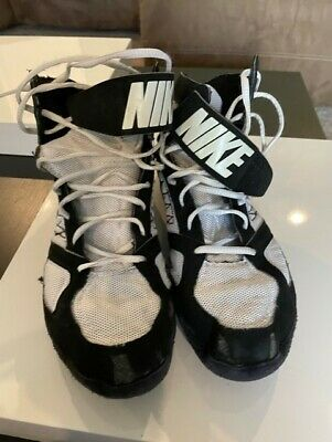 $ CDN30.23 • Buy RARE Nike Mens 11.5 Takedown Wrestling Shoes Black 366640-001 High Top Lace Up