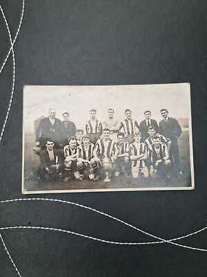 £60 • Buy Vintage Photographic Postcard - Unknown Football Team With Trophy (KD8)