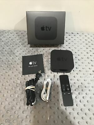 AU136.45 • Buy Apple TV (4th Generation) 32GB HD Media Streamer -Black A1625 Power Cable Bundle