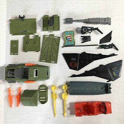 $ CDN61.87 • Buy Vintage 1980's GI Joe Parts Lot Night Raven Hover Vehicle Flag Missles More
