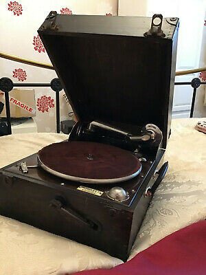 £64 • Buy Vintage Portable Wind-up Gramophone - With 90+ New Needles, Various Old Records
