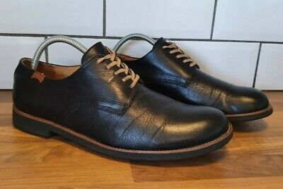 £44.95 • Buy Camper Mens Black Lace Up Shoes Size 42 UK 8 Leather Comfort Flats Casual Work