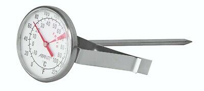 $13.17 • Buy New AVANTI Large Dial Milk Coffee Frothing Thermometer Stainless Steel Clip